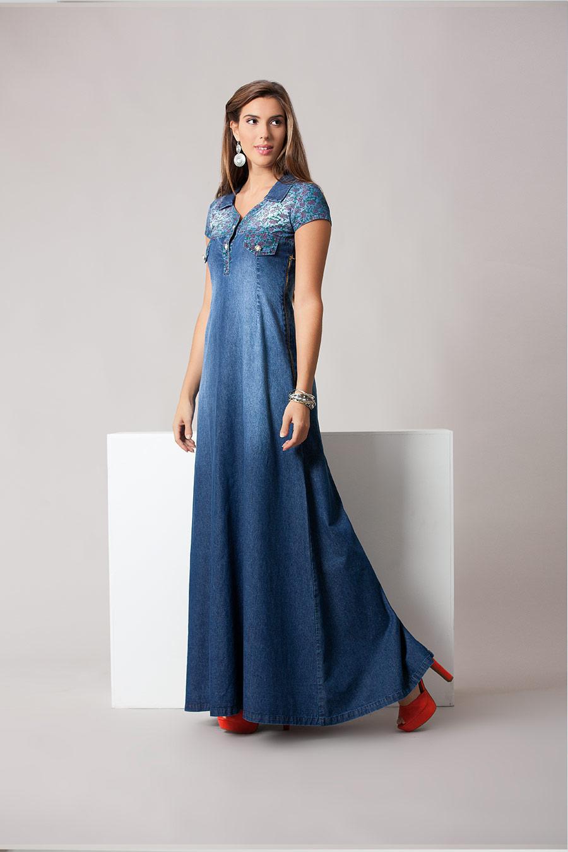 Vestido Jeans Longo - REF 11870 por apenas