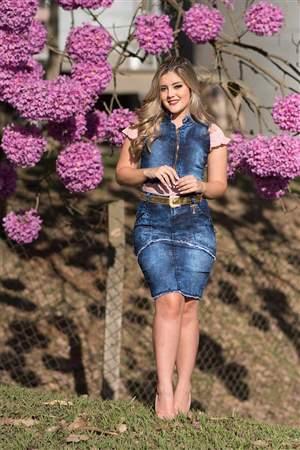 Conjunto Jeans Saia + Colete - REF 14570