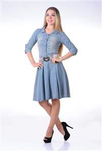 Vestido Jeans Rodado - REF 11315