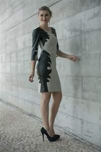 Vestido Recortes Preto - REF 11215