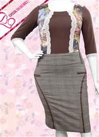 Saia Plus Lãzinha Xadrez - REF 11395