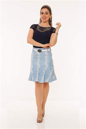 Saia Azul Fit and Flare - REF 12225