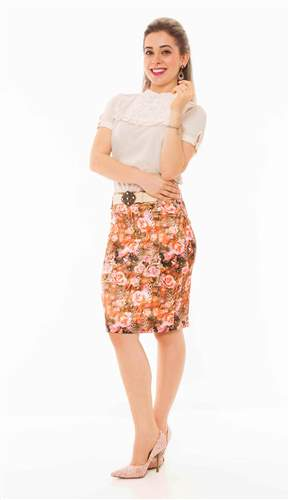 Conj. Saia Floral - REF 12305