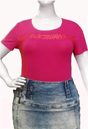 Blusa Malha Plus Size - REF A640