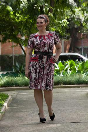Vestido Plus Estampado - REF 12865 - LIQUIDA