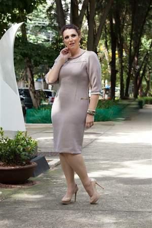 Vestido Plus Nude - REF 11590 - LIQUIDA