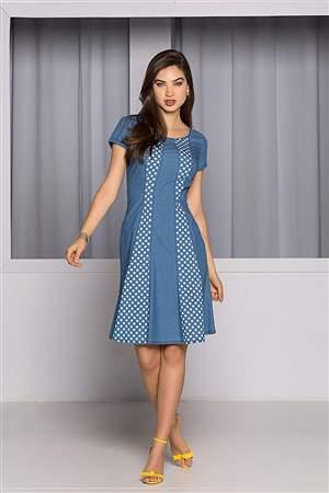 Vestido Nesgas Bolinha - REF13225