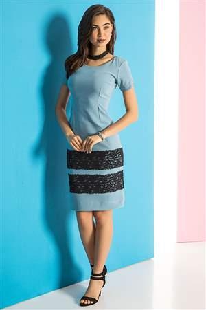 Vestido Azul Encanto - REF 12925 - LIQUIDA