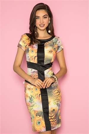 Vestido Flores de Piquet - REF 12950