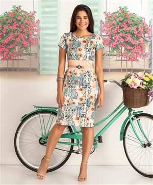Vestido Estampado - REF 13440