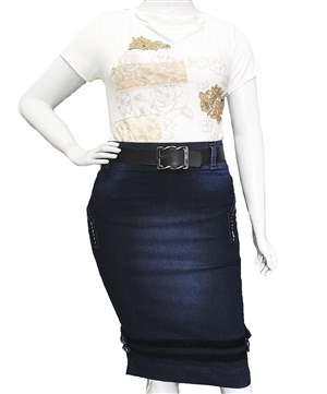 Saia Jeans Plus  - REF 13675