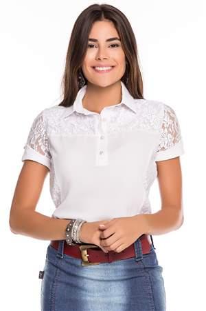 Camisa Polo de Crepe - REF C2585