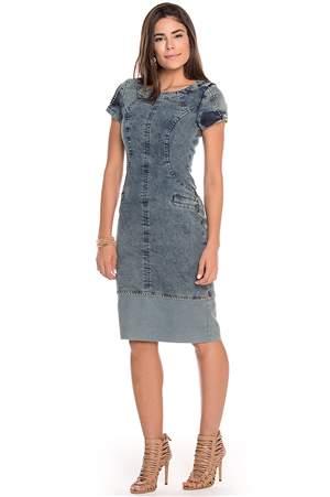 Vestido Jeans Marmorizado - REF 13760