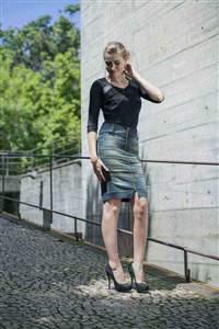 Saia Jeans Zipper exposto - REF 11420