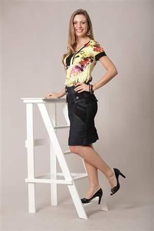 Blusa Viscose Floral  - REF 2150- LIQUIDA
