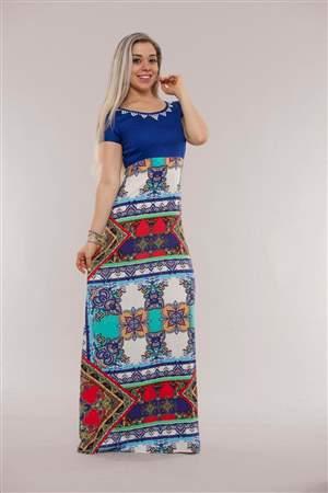 Vestido Longo Azul - REF 12260